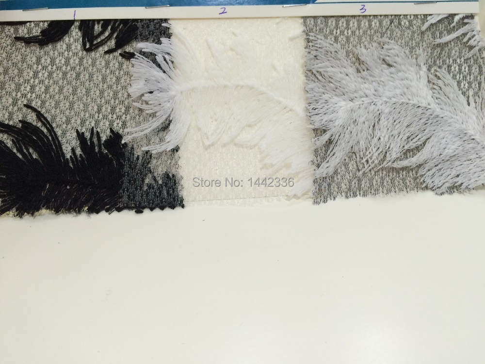 Factory direct sales wholesale Knitted Fabric F140# Embroidery Feather(China (Mainland))