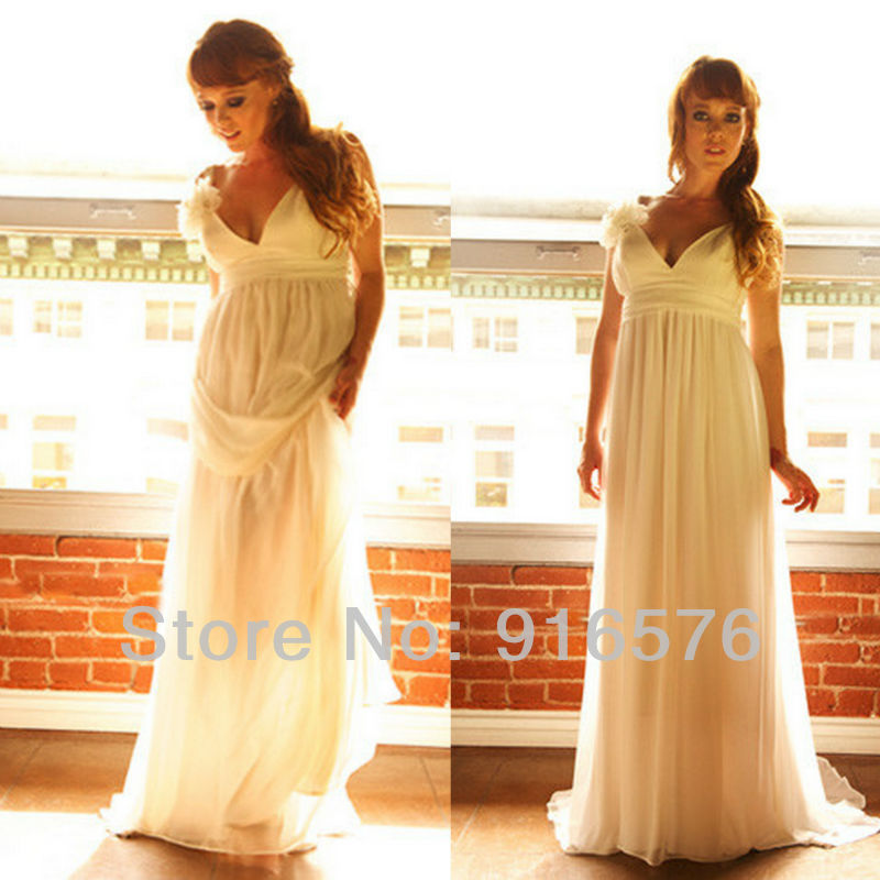 White Goddess Dress Plus Size Wedding Dresses With Long