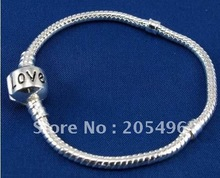 Wholesale 5pcs/lot European Style Silver plate nautical snake chain link Bracelets R9415(China (Mainland))