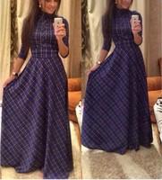 к 2015 году новый дизайн хлопок длинные платья с длинным рукавом продажи европейской моды женщин платье с пояса