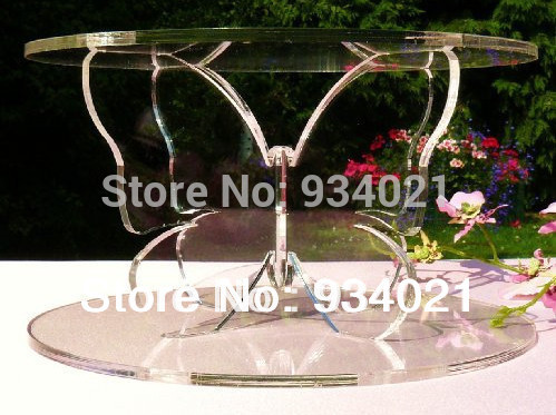 2-Tier Butterfly Acrylic Cupcake Stand / Plexiglass Round Cupcake Stand(China (Mainland))