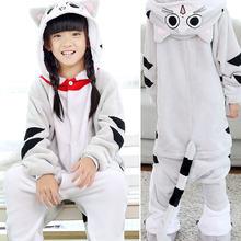 Детские пижамы в виде животных; зимняя фланелевая теплая одежда для мальчиков и девочек с рисунком единорога, стежка, панды; милый комбинезо...(China)