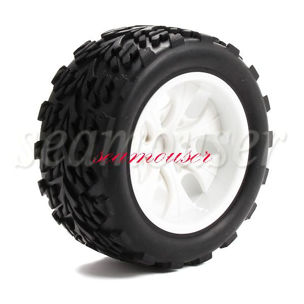 4pcs 1:10 Off-road Car 7 Spoke Rubber Sponge Tires Wheel Rims Truck(China (Mainland))