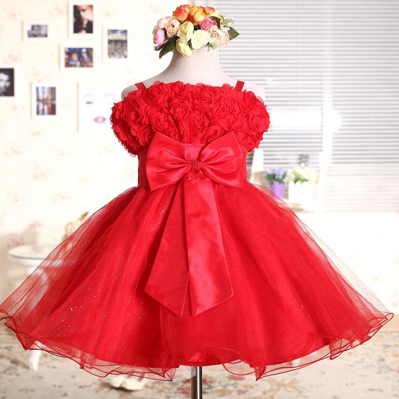 fashion Children's clothing cute puff bowtie suspender tank Dresses girls princess wedding flower girl layered bridesmaid dress(China (Mainland))