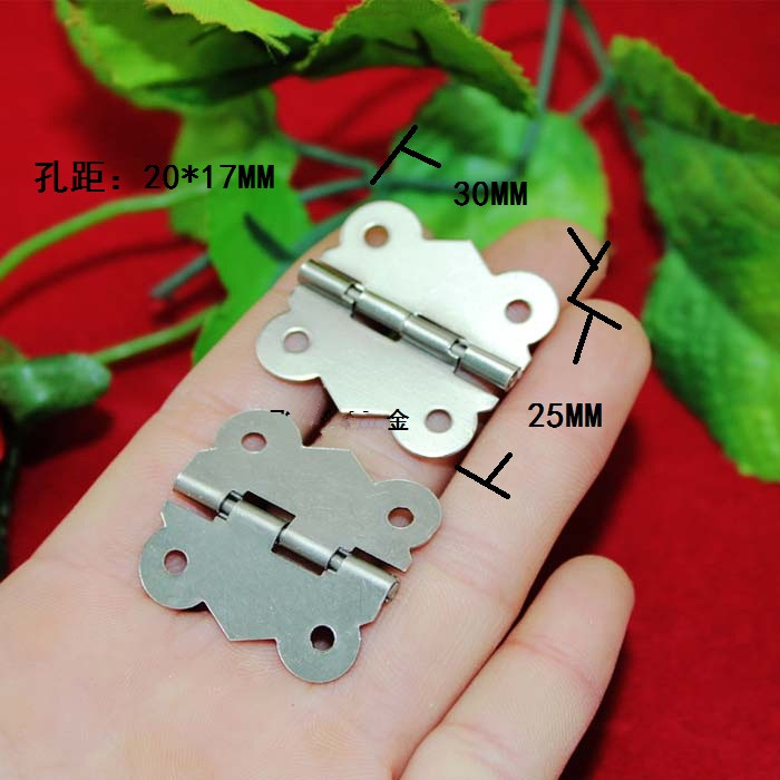Golden color butterfly shaped steel jewelry box hardware folding hinge adjustable angle 25*30 mm(China (Mainland))