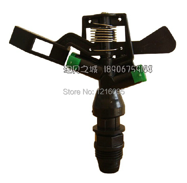 """10pcs/lot lawn sprinkler nozzle Water spraying automatic rotating nozzle Plastic radial head G1/2"""" lawn sprinkler(China (Mainland))"""