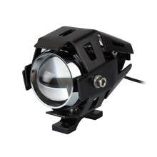 1 pair 2PCS Black Universal 125W 3000LM CREE U5 LED Motorcycle Driving Fog Headlight Spot Light