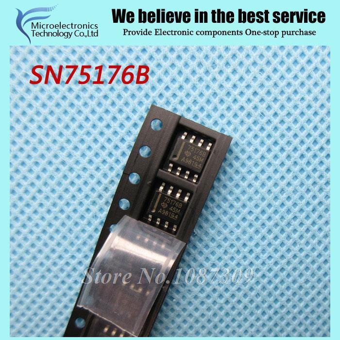 50pcs free shipping SN75176B SN75176 SN75176BDR SOP-8 RS-485 Interface IC Differential Bus new original(China (Mainland))