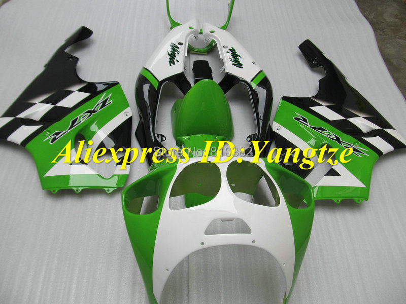 CUSTOM Fairing kit KAWASAKI Ninja ZX7R 96 97 98 99 00 01 02 03 1996-2003 Green white blk ABS Fairings set +7 gifts SF08 - FAIRING KIT Co. Ltd store