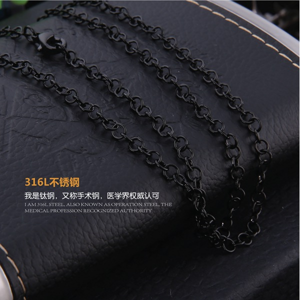 Fashion Silver Rose Gold Plate Chain , 316 L Stainless Steel Chain For Lady(China (Mainland))