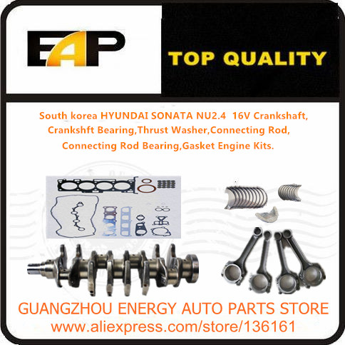 Crankshaft Bearing Crankshaft Bearing Connecting Rod Connecting Rod Bearing Gasket Engine Kits FOR HYUNDAISONATA NU2 4