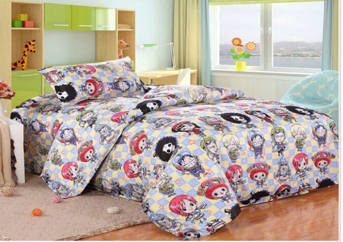 Japan anime one piece bedding children bedding set for for Housse de couette flanelle