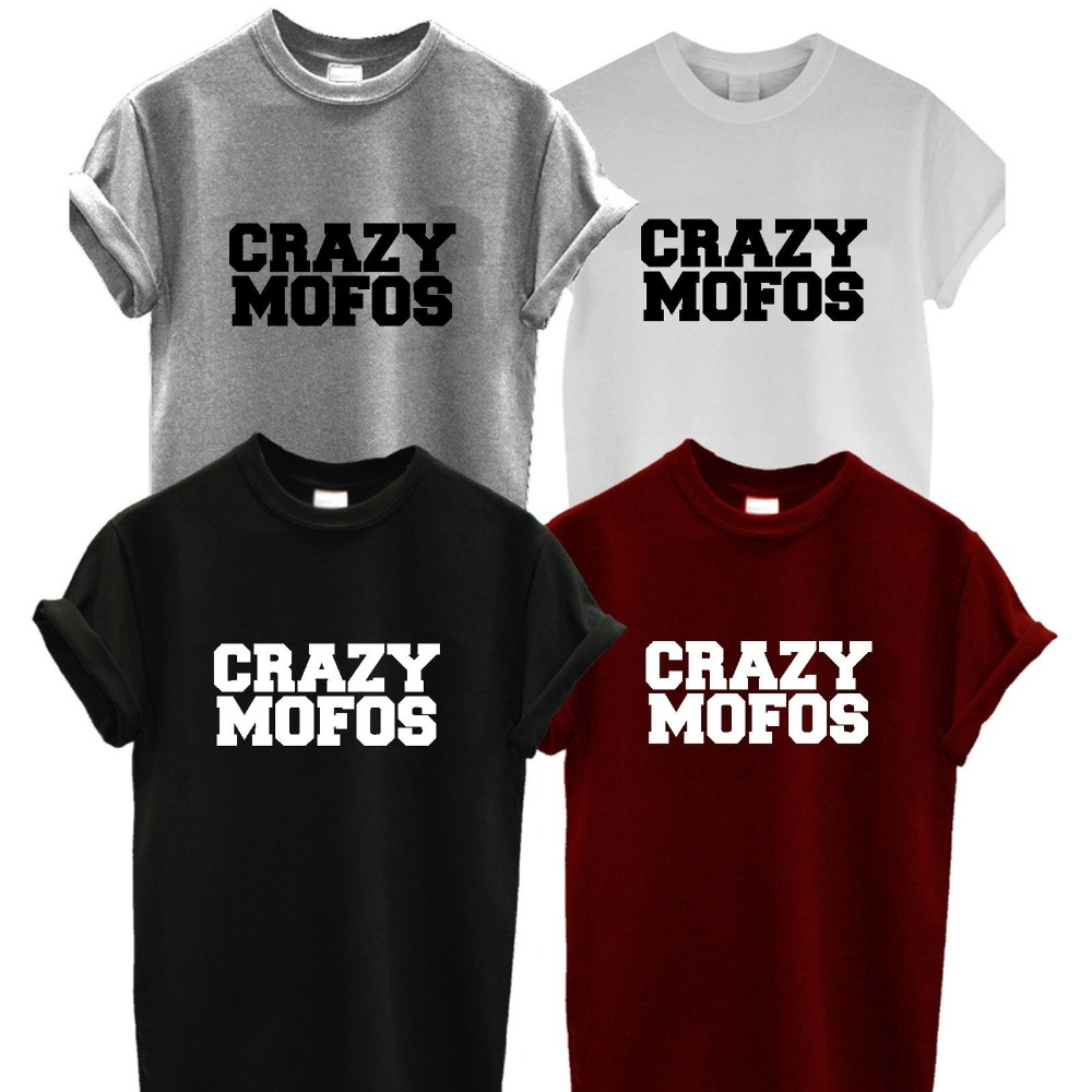 Harry Styles Crazy Mofos T Shirt 1D One Direction Swag UNISEX Top hipster Harry Niall camiseta TUMBLR Swag Fashion Men Women Tee(China (Mainland))