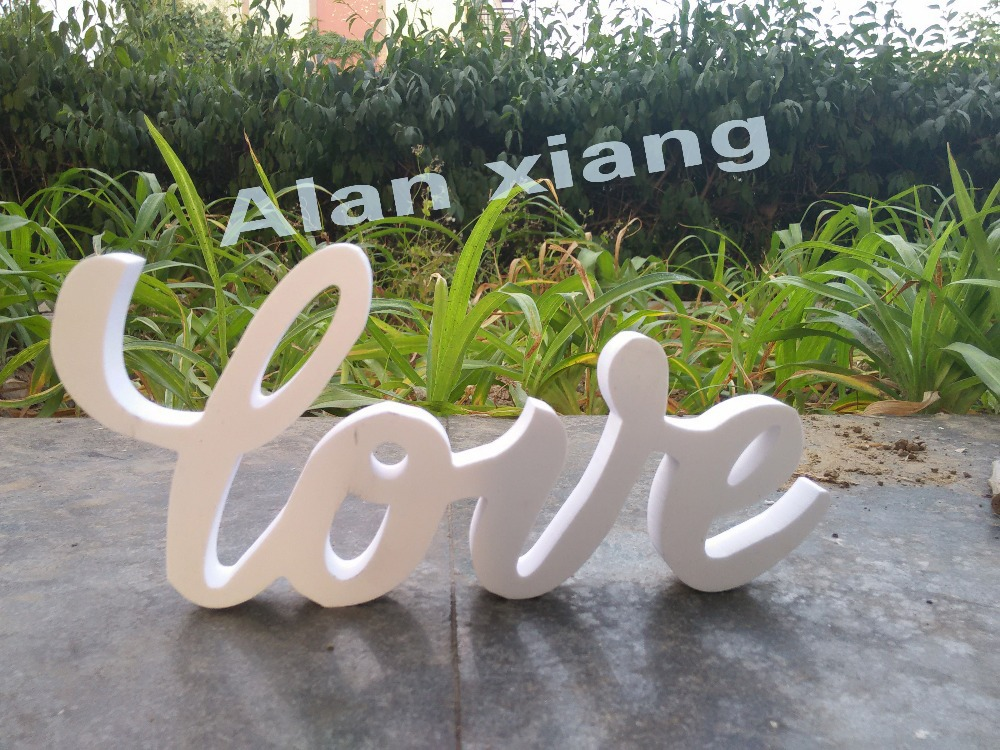 free shipping LOVE wedding sign PVC and freestanding Wedding letters Sweetheart table decoration Wedding decoration(China (Mainland))