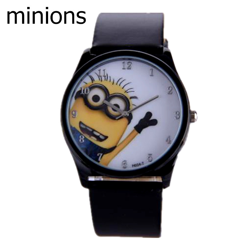 Despicable minions watch Casual WristWatches Analog Dial Quartz Alloy Women Unisex Leather Band Children Cartoon Watches - TOPWatches store