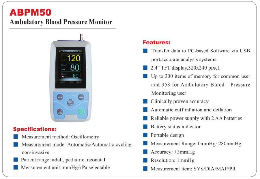 24 hours BP Meter Upper arm blood Digital Sphygmomanometer ...