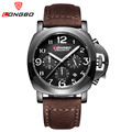 LONGBO mens watches top brand luxury quartz watch men chronograph leather military waterproof sport watches relogio
