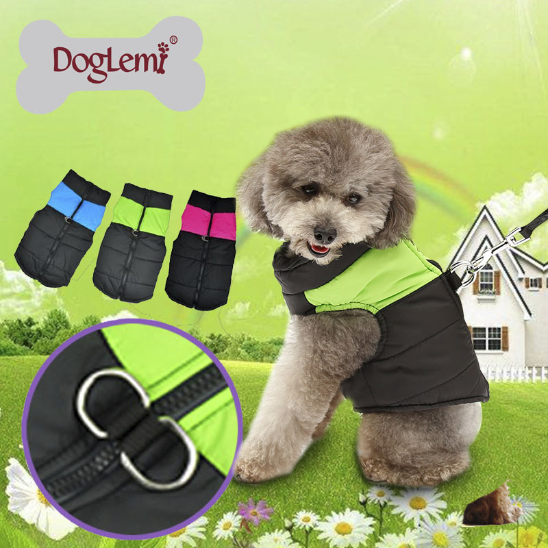 Winter Warm Zip Up Pet Dog Clothes Waterproof Quilted