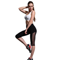 LASPERAL Women Fitness Sports Pants Sexy Black Mesh High Waist Elastic Legging Pants Gym Running Jogging