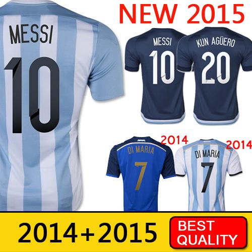 Free Shipping Argentina Jersey 2015 soccer jerseys MESSI di maria Argentina copa america survetement football shirt(China (Mainland))