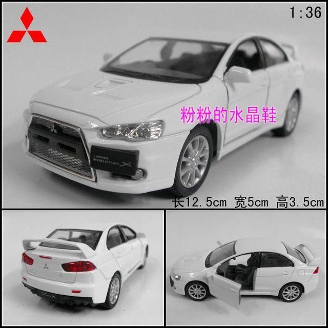 Soft world kinsmart1 : 36 MITSUBISHI lancer landcer alloy car model toy white