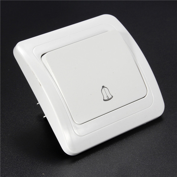 New Hot Sale Convenient 1 Gang Way Wall Push Press Button Doorbell Switch Control Panel 250V 8cmx8cm Best Quality(China (Mainland))