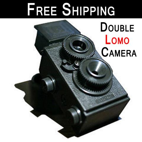 Free Shipping!Retro creative diy double inverse dual lens lomo camera /DIY LOMO Camera 35MM Film Recesky Twin Lens Reflex Camera(China (Mainland))