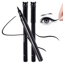 1PC NEW Beauty Cat Style Black Long-lasting Waterproof Liquid Eyeliner Eye Liner Pen Pencil Makeup Cosmetic Tool(China (Mainland))