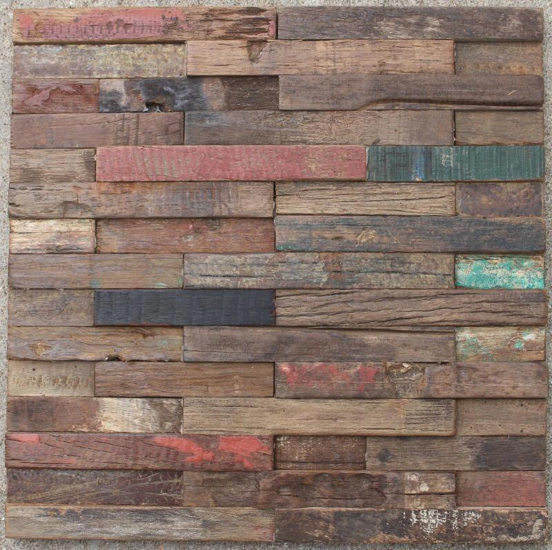 3d rustic natural wood mosaic tile kitchen backsplash tile ancient wood mosaic wall and floor - Backsplash tile rustic ...