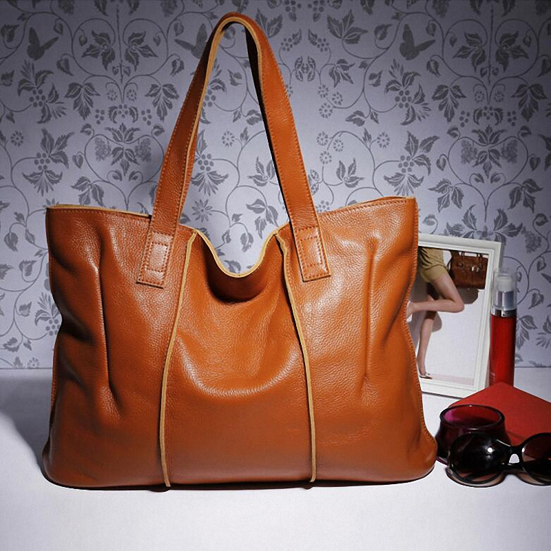 n and American fashion leather handbag head layer cowhide leather shoulder bag hand big package a issuing spot wholesale<br><br>Aliexpress