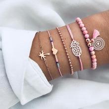 18 Styles Mix Tortue perle cœur Vague AMOUR Cristal Marbre bracelets porte-bonheur pour Femmes Boho bracelet à pompons Bijoux En Gros(China)