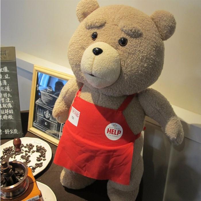 FreeShipping 48cm Wholesale Big Stuffed Teddy Bear Cartoon Movie Plush Toys Soft Animals Ted Bear Dolls for Girls Toys Idea Gift(China (Mainland))