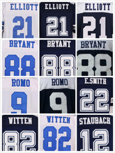 Stitched 21 Ezekiel Elliott 9 Tony Romo 22 Emmitt Smith 50 Sean Lee 82 Jason Witten 88 Dez Bryant 8 Troy Aikman Elite Jerseys(China (Mainland))