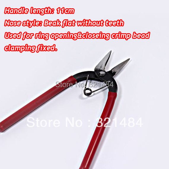 Wholesale&free ship 50pcs Jewelry making tools beading pliers Beak flat without teeth nose for opening&closeing clamping fixed(China (Mainland))