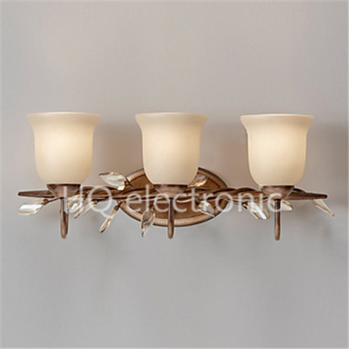 Free Shipping Wall Sconce Country Style Steel Vintage LED Wall Lamp Light With 3 Light ,(China (Mainland))