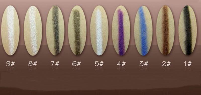 Novo 14 Cores de Sombra/Delineador Caneta Wih Escova Destaques/Natural de Longa Duração Lápis Delineador À Prova D' Água Para Senhoras