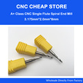 5pcs 3 175mm AAA High Quality CNC Router Bits Single Flute Tools Sharp Edge Durable CED