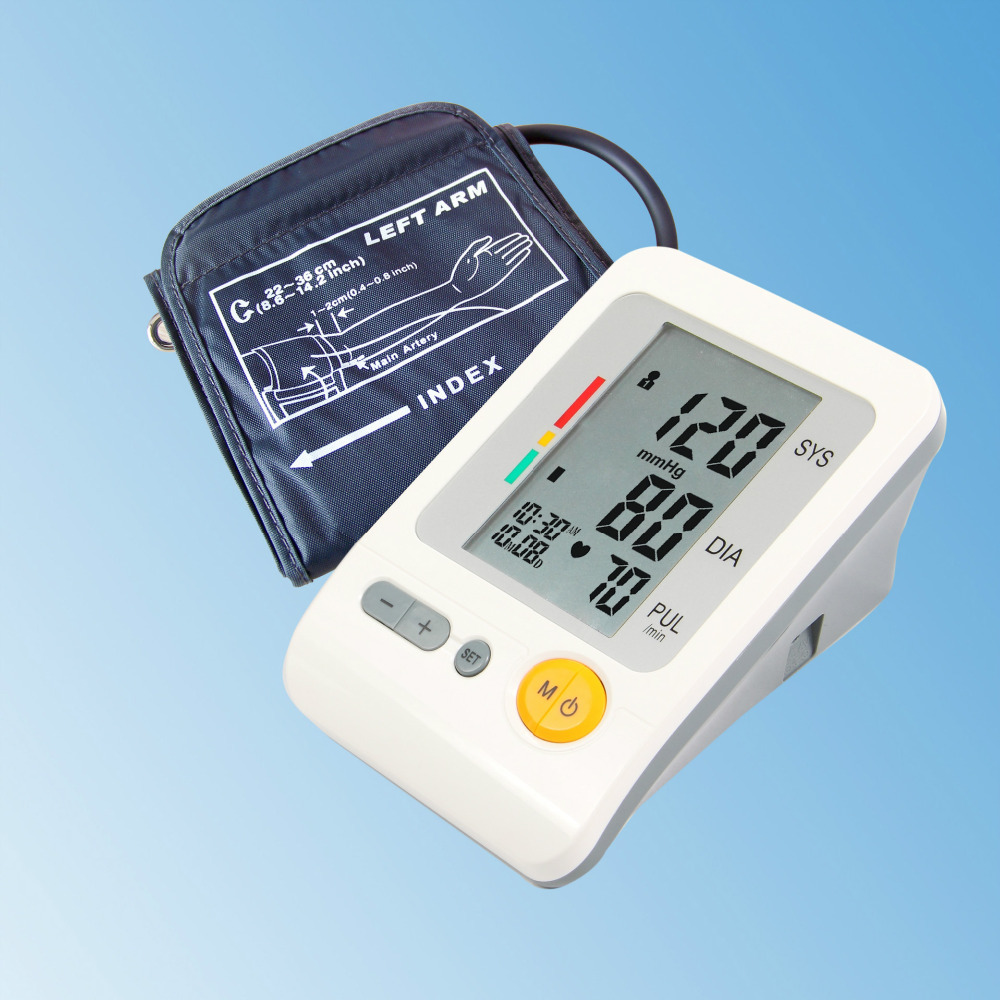 New Home Care Portable Automatic Digital Arm / Wirst Blood Pressure Monitor BP-103H Heart Beat Meter Tester With Large LCD(China (Mainland))