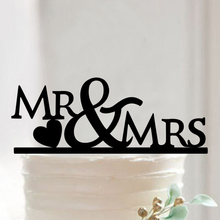 Buy FREE SHIPPING+Mr&Mrs Wedding Party Decoration Favors Acrylic Cake Topper Birthday Party Anniversary Cupcake Stand for $7.99 in AliExpress store