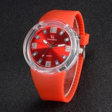 2015 New Arrival V6 Big Dial Men Lovers watch Silicon Sports Military Fashion Watches Quartz Wristwatches Gift Relogio Feminino