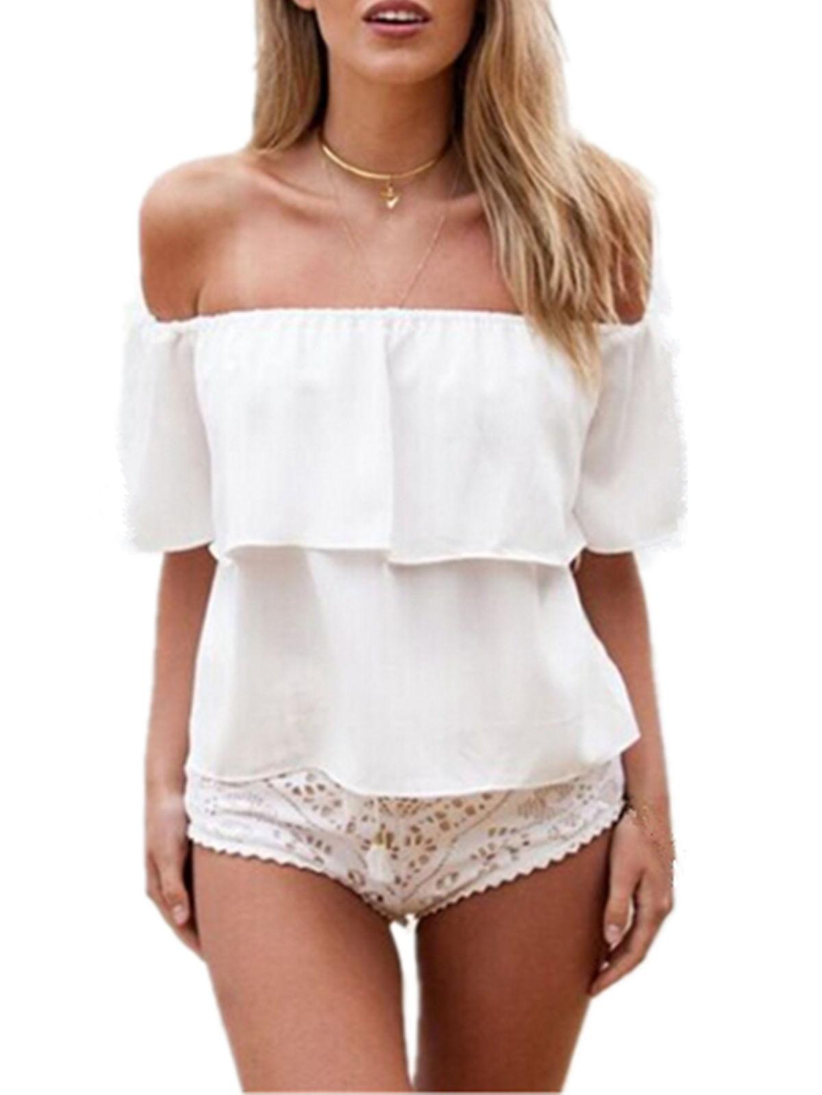 Блуза с открытыми плечами и воланом своими руками Дизайнерская одежда 10