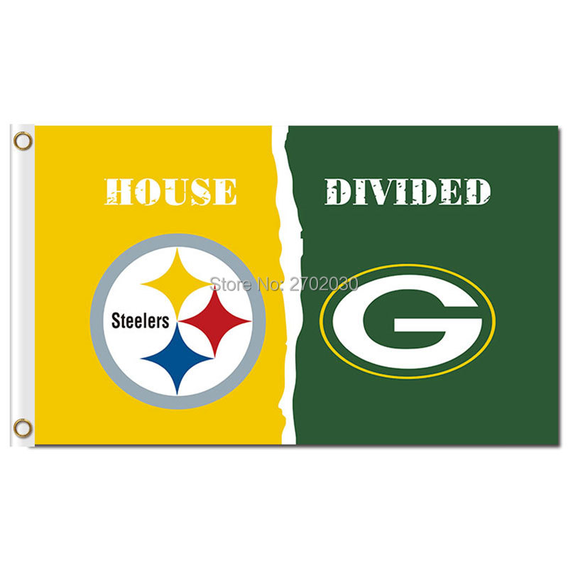 Pittsburgh Steelers Banner Green Bay Packers Flag World Series Football Team 3ft X 5ft Steelers And Green Bay Packers Flag(China (Mainland))
