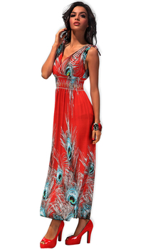 11 colors 2015 summer new fashion for the women long maxi high waisted bohemian causal dresses