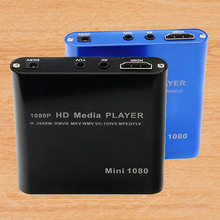Mini Multi-functional 1080P HDMI Input HD HDD Hard Disk Digital Media Player Support SD USB with IR Remote Controller US Plug(China (Mainland))
