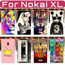 HOT! 2016 NEW Colored Painting Hard PC Case FOR Nokia XL Case Cover FOR Nokia XL Dual SIM Phone Protective Back Case Cover(China (Mainland))