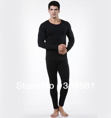 -2013 Men's Modal Cotton Thermal underwear -Round neck Solid Warm Sets men - Underwear Shop store