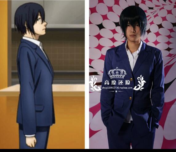 Prison School Anime Kangoku Gakuen Midorikawa Hana boys  Fujino kiyoshi cosplay costume school uniform