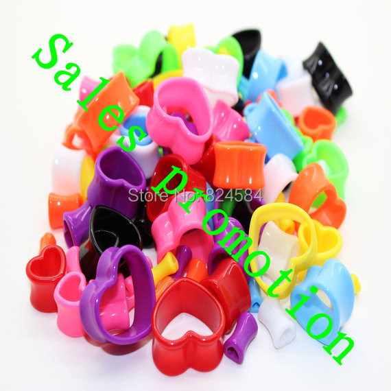 free 4mm,5mm,6mm, 8mm, 10mm ,12mm , Acrylic Heart Flesh Tunnel Ear Plug Double Flare Saddle(China (Mainland))