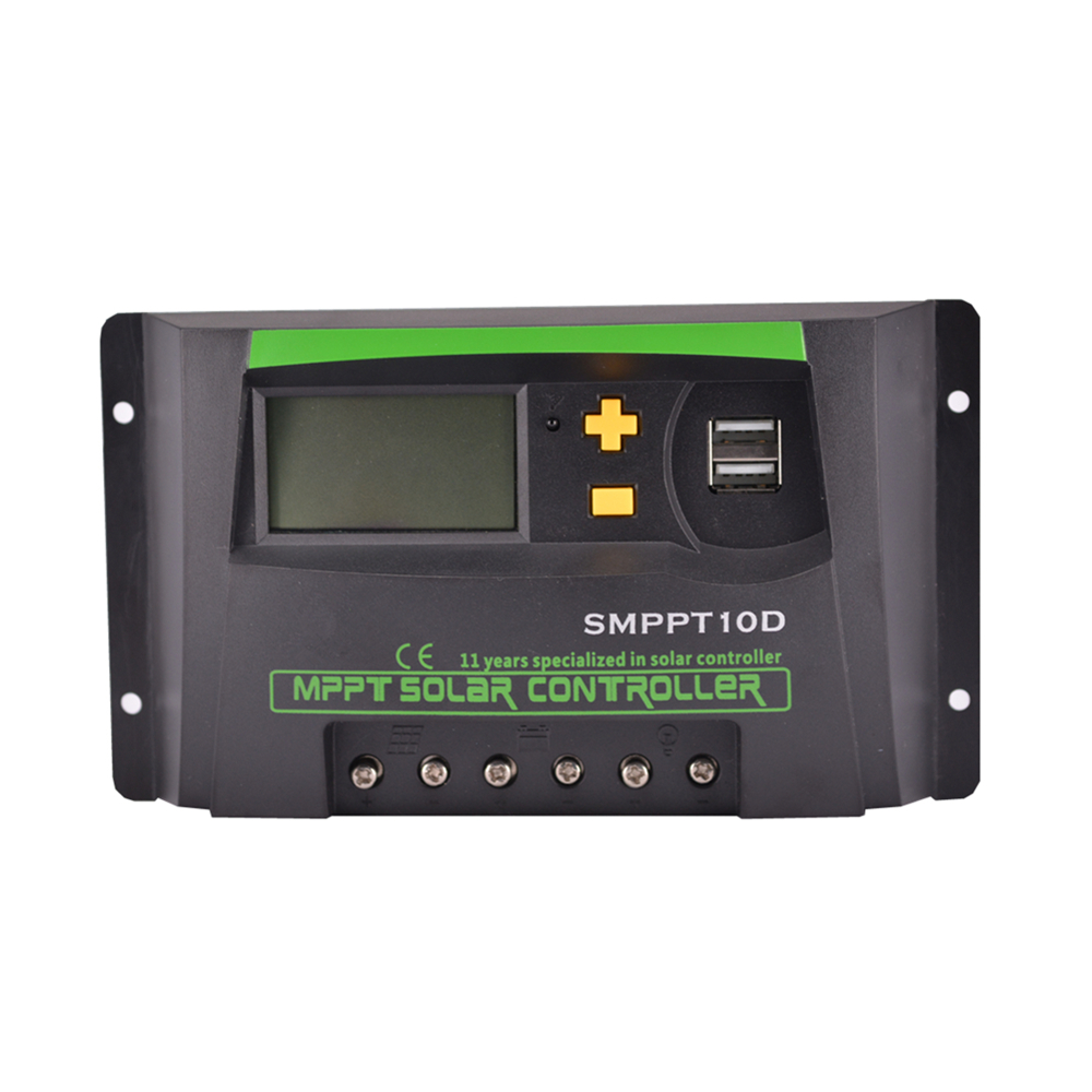 MPPT 10A LCD Solar Charge controller 12V 24V auto switch LCD display SMPPT10D Solar charge controller MPPT 10 charger controller(China (Mainland))