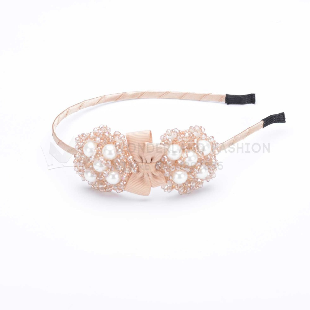 Crystal Flower Shape & Plastic Pearl Polyester Bow Hairband New Fashion Hair Accessories For Women Ladies Girls Children Kids(China (Mainland))